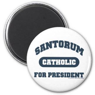 Catholic's For Santorum 2 Inch Round Magnet