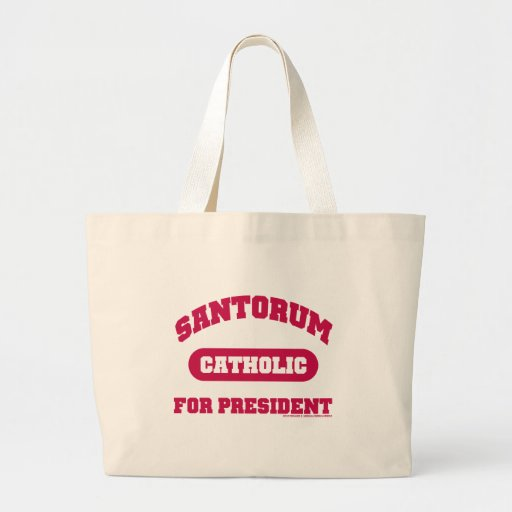 Catholic's For Santorum Canvas Bags