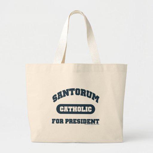 Catholic's For Santorum Bags