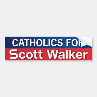 Catholics for Scott Walker Car Bumper Sticker