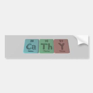 Cathy as Calcium Thorium Yttrium Bumper Sticker