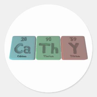 Cathy as Calcium Thorium Yttrium Classic Round Sticker