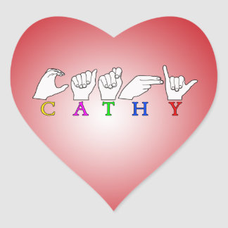 CATHY FINGERSPELLED ASL SIGN NAME STICKER