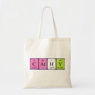 Cathy periodic table name tote bag