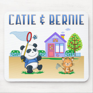 Catie And Bernie Mouse Pad