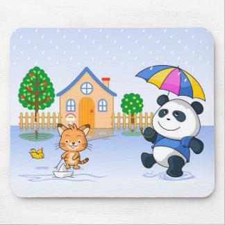 Catie & Bernie Rain Mouse Pad