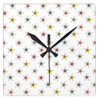 Catio Pinwheels Square Wall Clocks