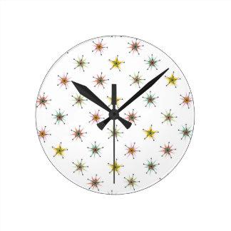 Catio Pinwheels Round Clocks