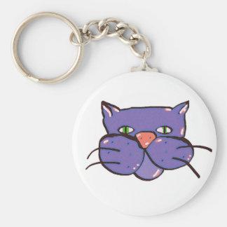 catitude 1 basic round button keychain