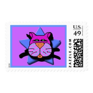 catitude 2 postage stamp