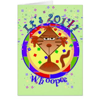Catitude Cat New Years Card