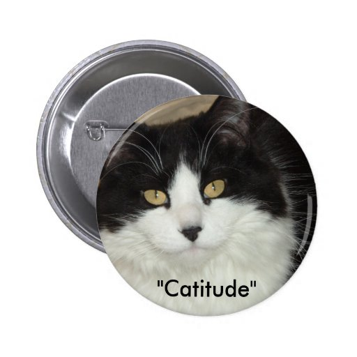 Catitude Cat with an Attitude 2 Inch Round Button