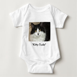 Catitude Cat with an Attitude Baby Bodysuit