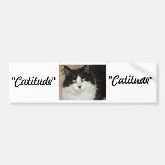 Catitude Cat with an Attitude Bumper Sticker