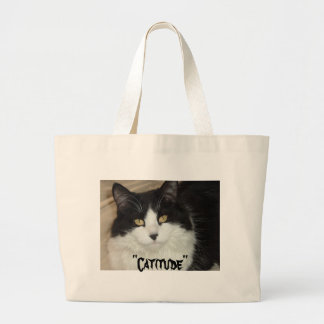 Catitude Cat with an Attitude Large Tote Bag