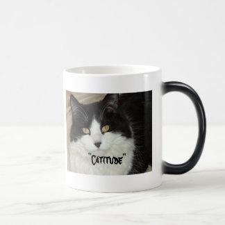 Catitude Cat with an Attitude Magic Mug