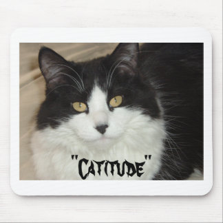 Catitude Cat with an Attitude Mouse Pad