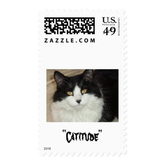 Catitude Cat with an Attitude Postage