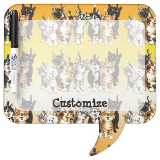 Catitude Cute Kitty Cats Dry Eraser Board Dry Erase Boards