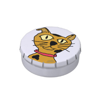 Catitude Jelly Belly Candy Tin