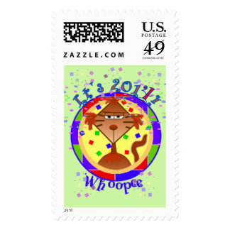 Catitude New Years Stamps