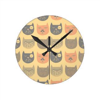 Catitude Round Clock