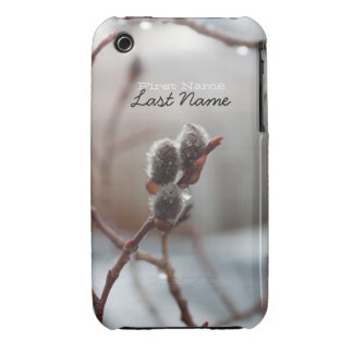 Catkin cubierto de rocio; Personalizable Funda Para iPhone 3 De Case-Mate