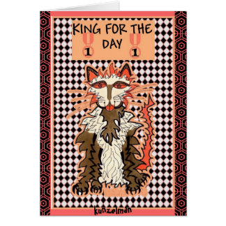 CATKING GICLEE PRINT GREETING CARD