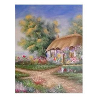 catlady cottage postcard