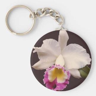 Catleya Orchid Keychain