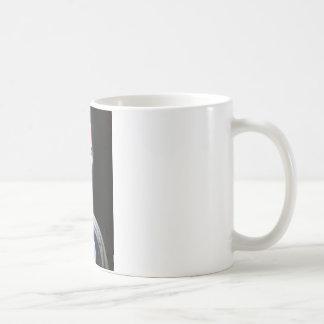 catlike humanoid that came through the transport classic white coffee mug