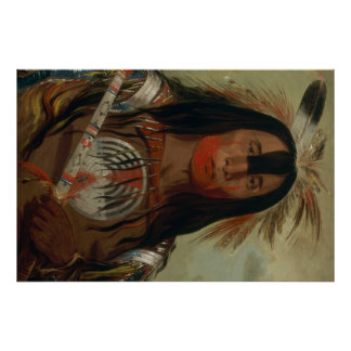 Catlin Native American Art Poster