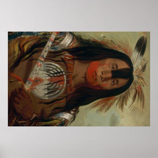 Catlin Native American Art Poster