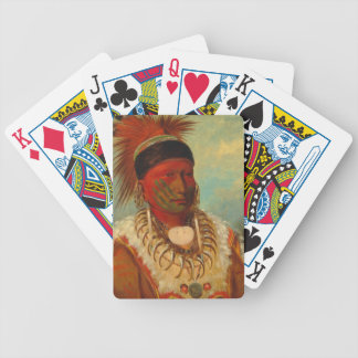 Catlin - The White Cloud, Head Chief of the Iowas Bicycle Playing Cards