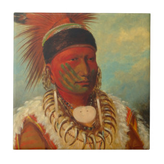 Catlin - The White Cloud, Head Chief of the Iowas Tile