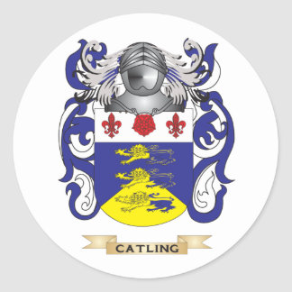 Catling Coat of Arms Round Stickers