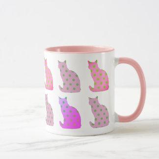 catlover pink mug customize colors