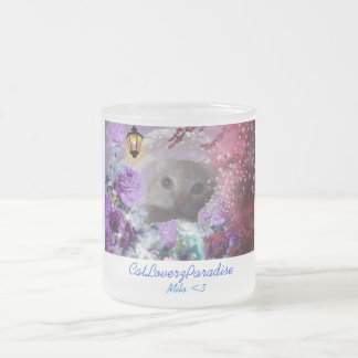 CatLoverzParadise presents Milo <3 Frosted Glass Coffee Mug