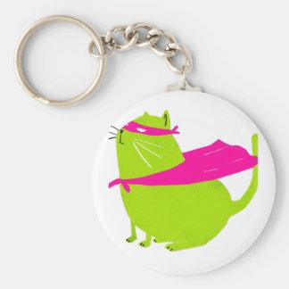 Catman Green Keychain