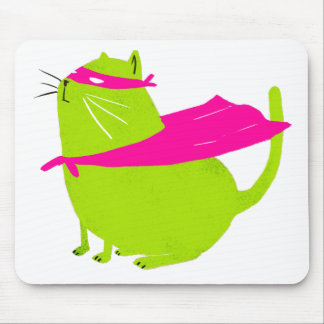 Catman Green Mouse Pad