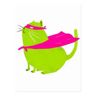Catman Green Postcard