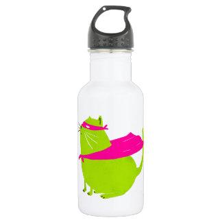 Catman Green Stainless Steel Water Bottle