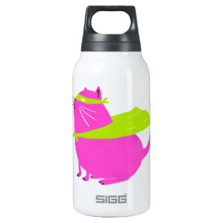 Catman Pink 10 Oz Insulated SIGG Thermos Water Bottle