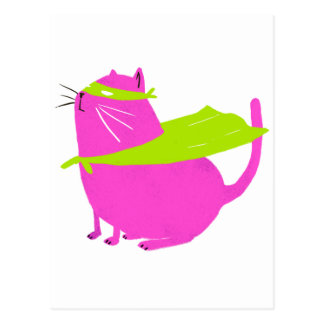 Catman Pink Postcard