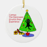 Catmas Experience Double-Sided Ceramic Round Christmas Ornament