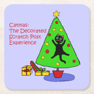 Catmas Experience Square Paper Coaster