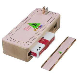 Catmas Experience Wood Cribbage Board