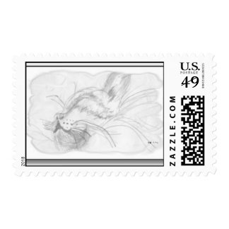 CatNap Postage Stamps