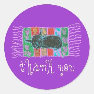 Catnap thank you sticker