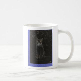 Catness - cricketdiane cat art coffee mug basic white mug
